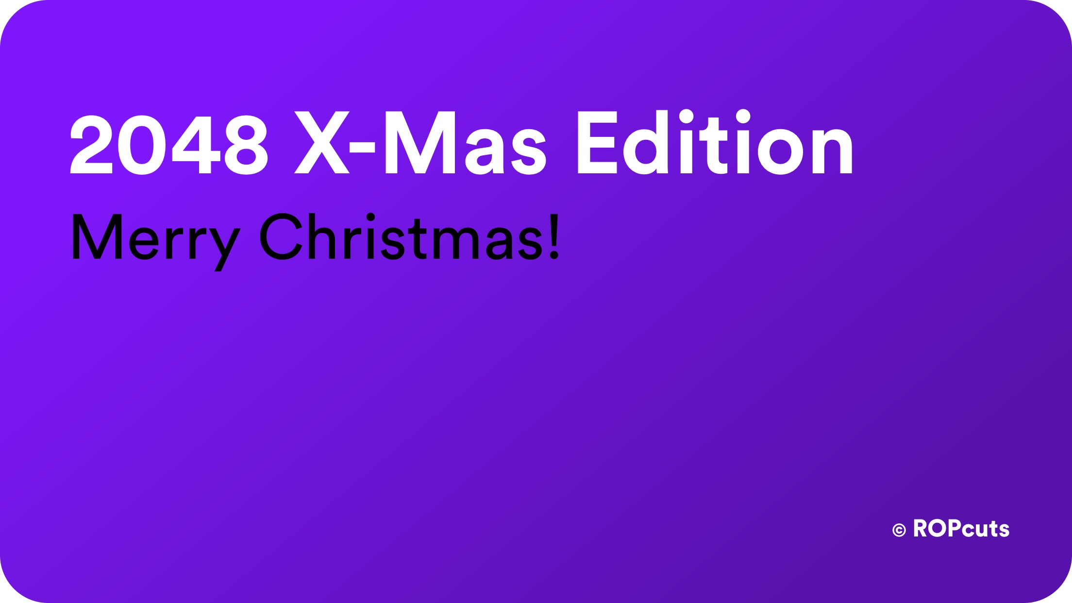 2048 X-Mas Edition